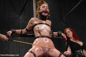 Bitch strapped tight to devices gets cho - XXX Dessert - Picture 13