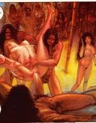 Virgin girl getting set on a huge dick for defloration