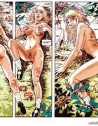Amazing adult comics about Little Red Riding Hood and her sex adventures