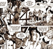 Cool black-and-white drawn porn with awesome lesbian fucking
