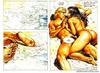 Blonde dude fucking a brunette bombshell on the sea shore