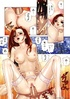 Red manga chick in white stockings banged in various poses