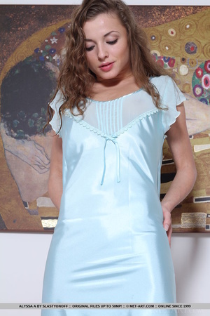 Young sweetie takes off silky nighty and - XXX Dessert - Picture 2