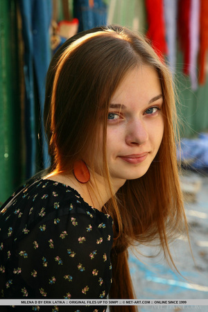 Sweet high school student shows her hair - XXX Dessert - Picture 1