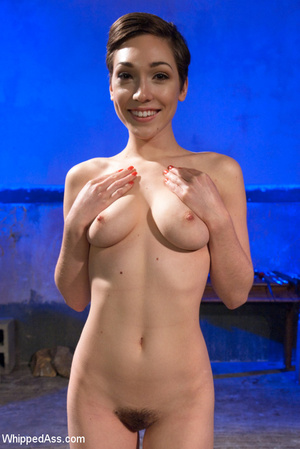 Hot babe with hairy pussy gets tied, whi - XXX Dessert - Picture 11
