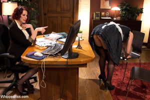 Office boss strips maid, spank and makes - XXX Dessert - Picture 11