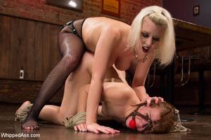 Harsh blonde dominate chick, spanking an - XXX Dessert - Picture 11