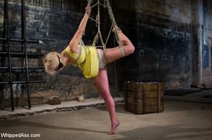 Blonde girl tied by sexy blonde chick ge - XXX Dessert - Picture 1