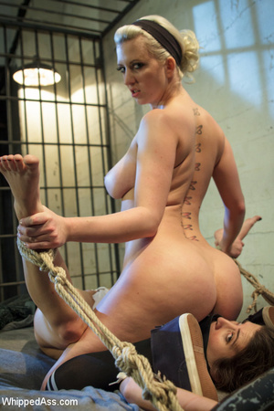 Blonde dominates brunette with hot spank - XXX Dessert - Picture 14