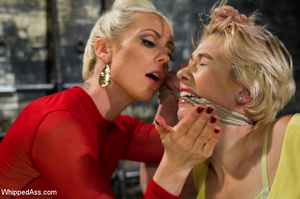 Blonde girl tied by sexy blonde chick ge - XXX Dessert - Picture 3