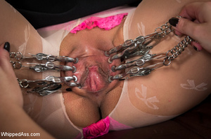 Chick tied with ropes, clips on pussy, c - XXX Dessert - Picture 4