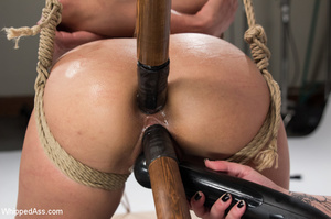 Chick tied with ropes, clips on pussy, c - XXX Dessert - Picture 8