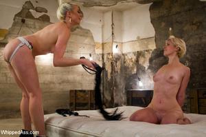 Blonde girl tied by sexy blonde chick ge - XXX Dessert - Picture 10