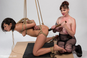 Chick tied with ropes, clips on pussy, c - XXX Dessert - Picture 11