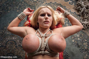 Big tits blonde tied with ropes, spanked - XXX Dessert - Picture 4