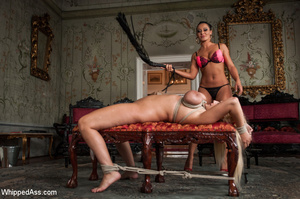 Big tits blonde tied with ropes, spanked - XXX Dessert - Picture 5
