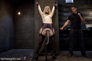 Sexy blonde slave made to suck and ride  - XXX Dessert - Picture 1