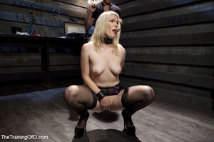Sexy blonde slave made to suck and ride  - XXX Dessert - Picture 4