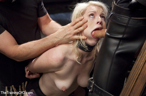 Sexy blonde slave made to suck and ride  - XXX Dessert - Picture 7