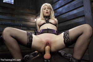 Sexy blonde slave made to suck and ride  - XXX Dessert - Picture 9