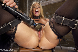 Bound blonde takes dick and cum in mouth - XXX Dessert - Picture 5