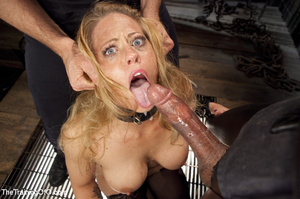 Bound blonde takes dick and cum in mouth - XXX Dessert - Picture 7