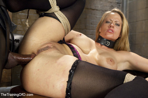 Bound blonde takes dick and cum in mouth - XXX Dessert - Picture 9