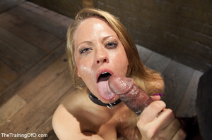 Bound blonde takes dick and cum in mouth - XXX Dessert - Picture 15