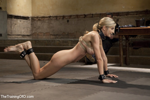 Sexy blonde in collar dominated by guy s - XXX Dessert - Picture 13