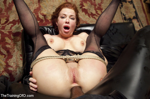 Hot big tits chick in pantyhose sucks an - XXX Dessert - Picture 13