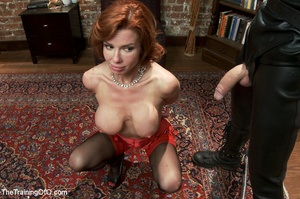 Hot blonde tied with rope and dominated  - XXX Dessert - Picture 1