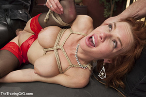 Hot blonde tied with rope and dominated  - XXX Dessert - Picture 12