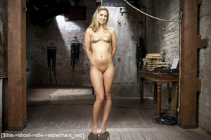 Blonde gets tied, suspended, made to squ - XXX Dessert - Picture 2