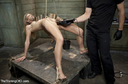 roped blonde gets pegged