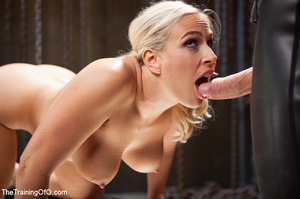 Lusty blonde tied and enslaved assaulted - Picture 7