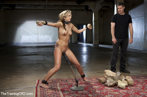 Slave chick made to lift stone, squat, d - XXX Dessert - Picture 7