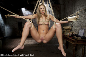 Blonde gets tied, suspended, made to squ - XXX Dessert - Picture 4