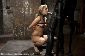 Blonde gets tied, suspended, made to squ - XXX Dessert - Picture 6