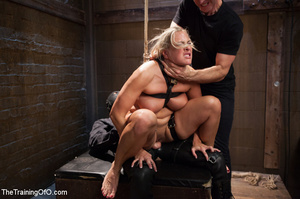 Lusty blonde tied and enslaved assaulted - Picture 14