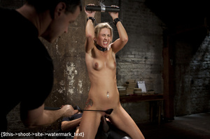 Blonde gets tied, suspended, made to squ - XXX Dessert - Picture 14