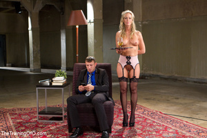 Cute blonde sucks and obeys her master i - XXX Dessert - Picture 1
