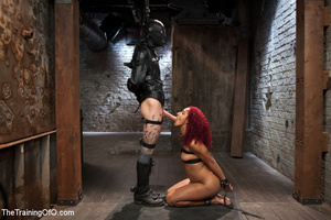 Roped redhead whipped, made to carry wei - XXX Dessert - Picture 5