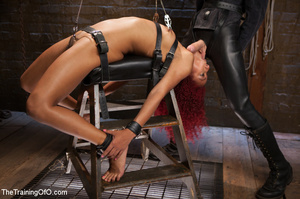 Ebony red head in pegged and roped takes - XXX Dessert - Picture 6