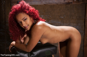 Ebony red head in pegged and roped takes - XXX Dessert - Picture 7