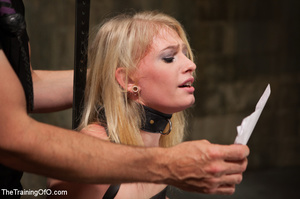 Strapped blonde in black enslaved to suc - XXX Dessert - Picture 4