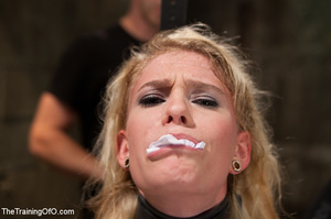 Strapped blonde in black enslaved to suc - XXX Dessert - Picture 7