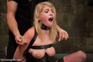 Strapped blonde in black enslaved to suc - XXX Dessert - Picture 8