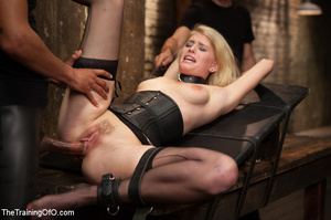 Strapped blonde in black enslaved to suc - XXX Dessert - Picture 14