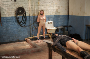 Young roped blonde slave fucks long dild - XXX Dessert - Picture 15