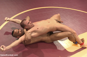 Horny dude and tattooed friend wrestle g - XXX Dessert - Picture 4